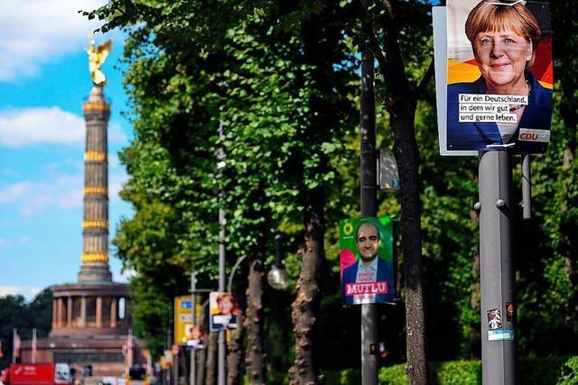 Der Kampf mit den Wahlplakaten hat begonnen