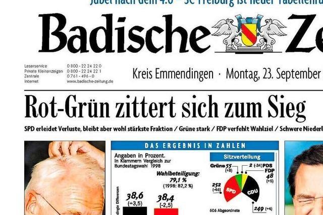 Bundestagswahl 2002: Auszüge aus der BZ-Berichterstattung