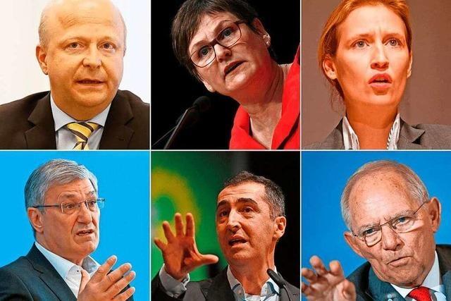 BZ-Wahltag mit den Spitzenkandidaten der großen Parteien