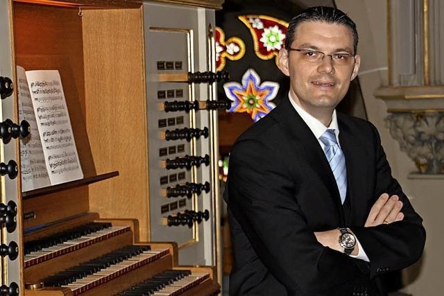 Stephan Kreutz gestaltet die nächste Orgelmusik zur Marktzeit am Samstag im Bad Säckinger Fridolinsmünster