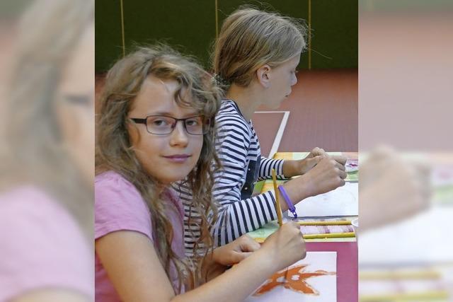 Seidenmalerei für Kinder