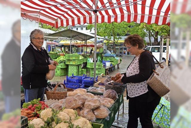 Wochenmarkt Lörrach: Die Region in der Einkaufstasche