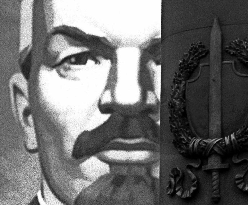 Lenin-Porträt an der Fassade des ehemaligen KGB-Gebäudes in Moskau  | Foto: AFP