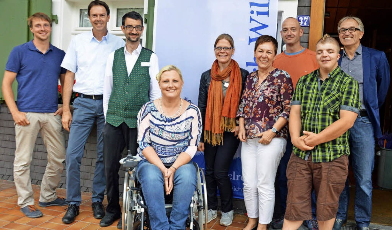 Landes-Behindertenbeauftragte Stephani...chwerer (von links) informiert wurde.   | Foto: Gerhard Lück