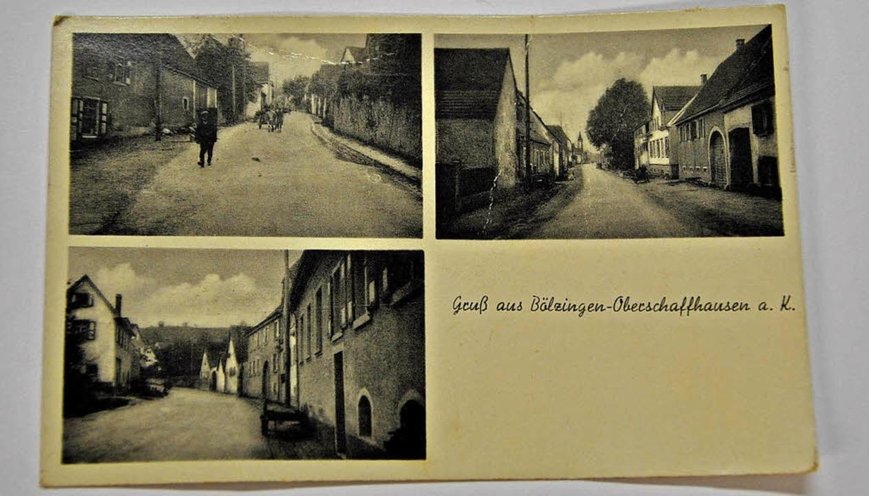 Eine alte Ansichtskarte aus der Zwisch... Straßenansichten aus Oberschaffhausen  | Foto: Manfred Frietsch