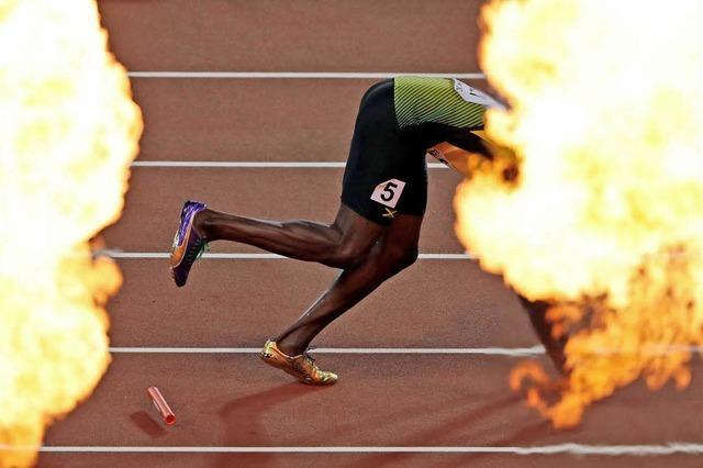 Fängt der verletzte Sprinter Usain Bolt in seinem letzten Rennen Feuer?