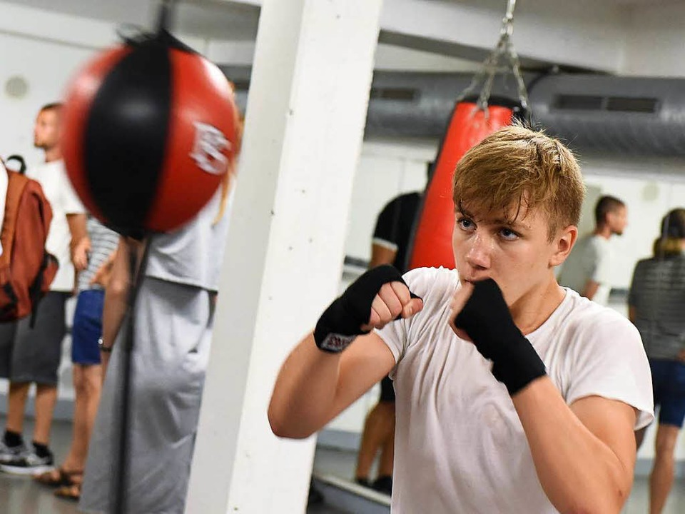 Training am Punchingball.  | Foto: Rita Eggstein