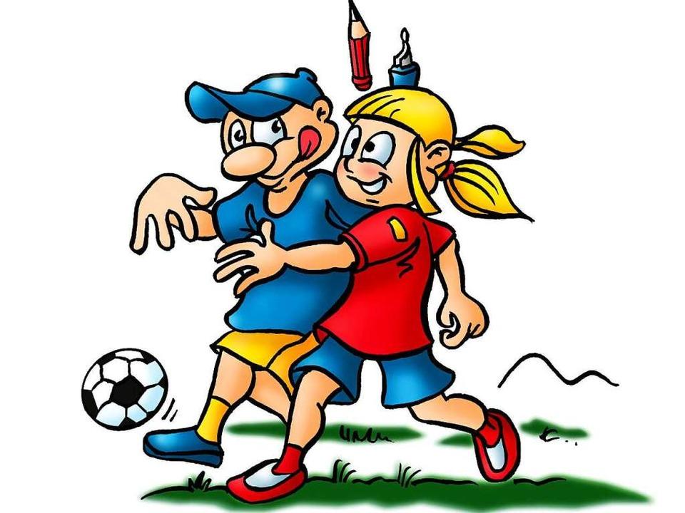 Tom spielt gern Fußball, Betti Z. und B. Zetti auch.  | Foto: Ferdinando Terelle