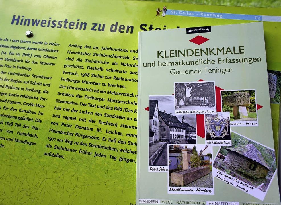 Neu herausgekommen ist dieses  Buch über Teninger Kleindenkmäler.     Foto: Johannes Sonnenberg