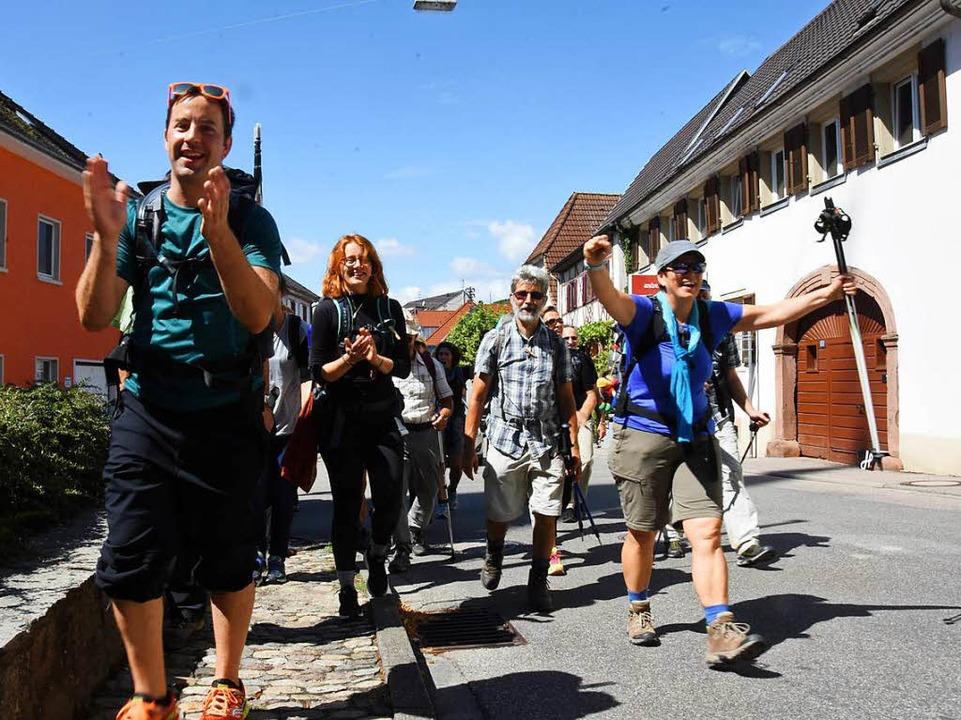 Freude bei der Ankunft    Foto: Jonas Hirt