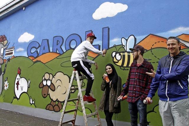 Graffiti für die Firma Caroli