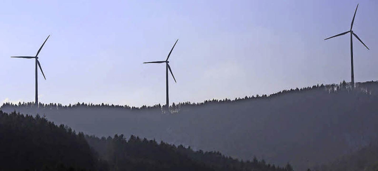 Die Windräder über dem Schuttertal.     Foto: Susanne gilg