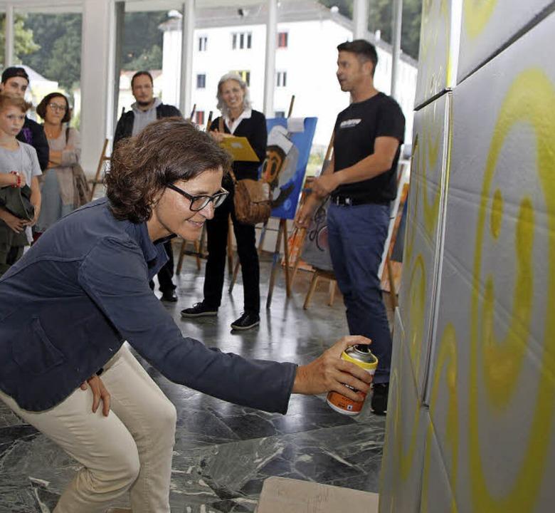Bei der BZ-Ferienaktion durften die Le...d, das ganz ohne Sprayfarbe entstand.   | Foto: Heidi Fössel