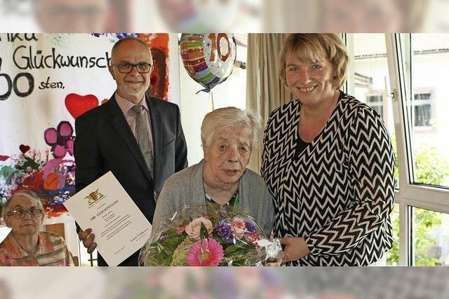 Zells älteste Bürgerin ist 100