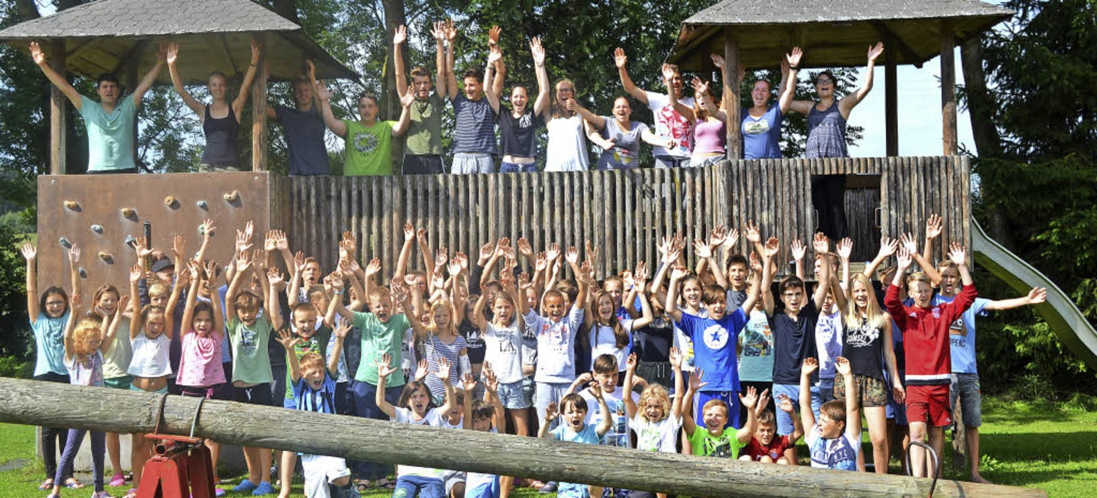 Viel Freude hatten die Kinder bei der ...in Niederbayern mit der Kolpingjugend.    Foto: Kolpingjugend
