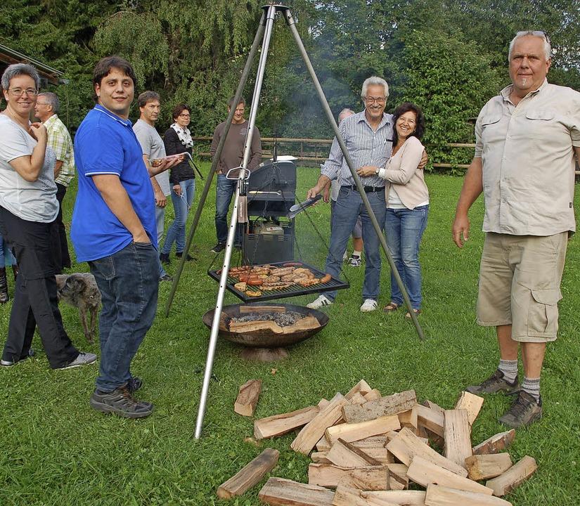 Das Helferfest des Musikvereins Minsel...uf dem Anwesen der Familie Kümmerle.    | Foto: Petra Wunderle