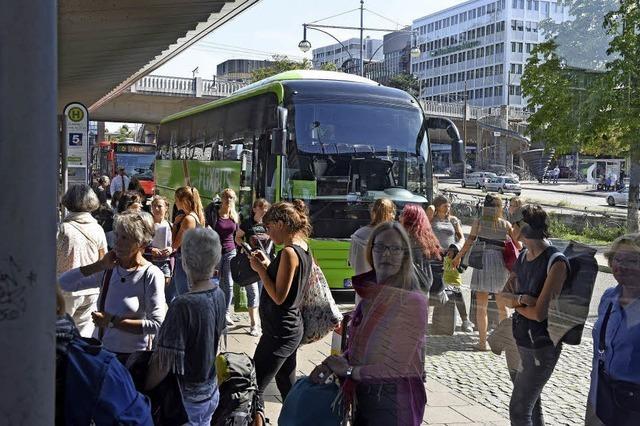 Andrang bei den Fernbussen