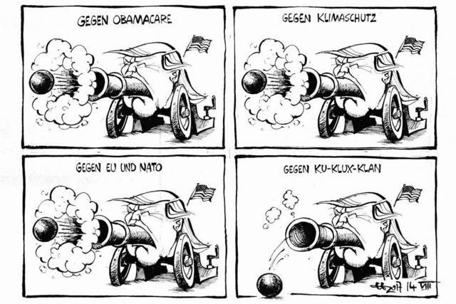 Die Trumpsche Verbalkanone