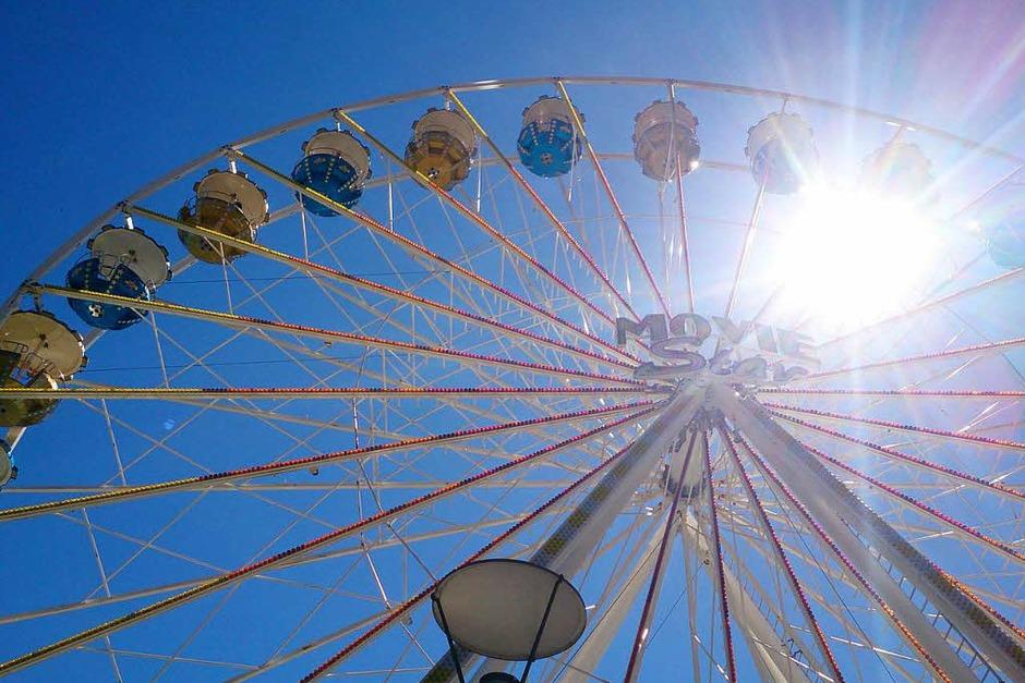 Architektur: Das Riesenrad auf dem Cityfest von Rheinfelden/Baden. Fotografiert von Miriam Fehrenbacher (Foto: Miriam Fehrenbacher)