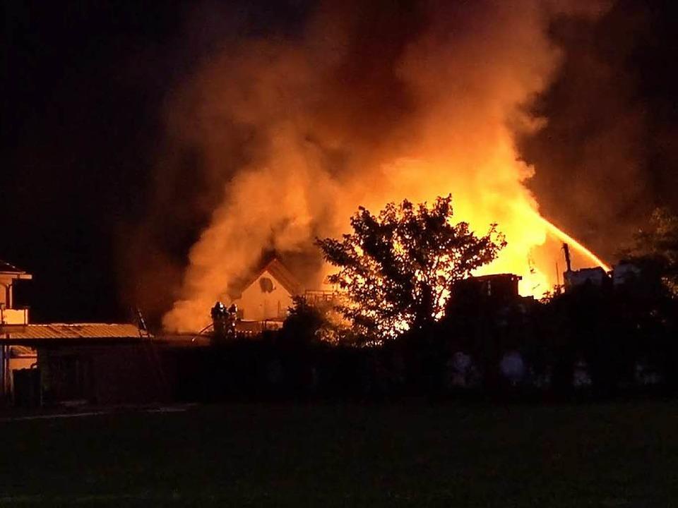 Die Werkstatt brannte völlig aus.    Foto: Wolfgang Künstle