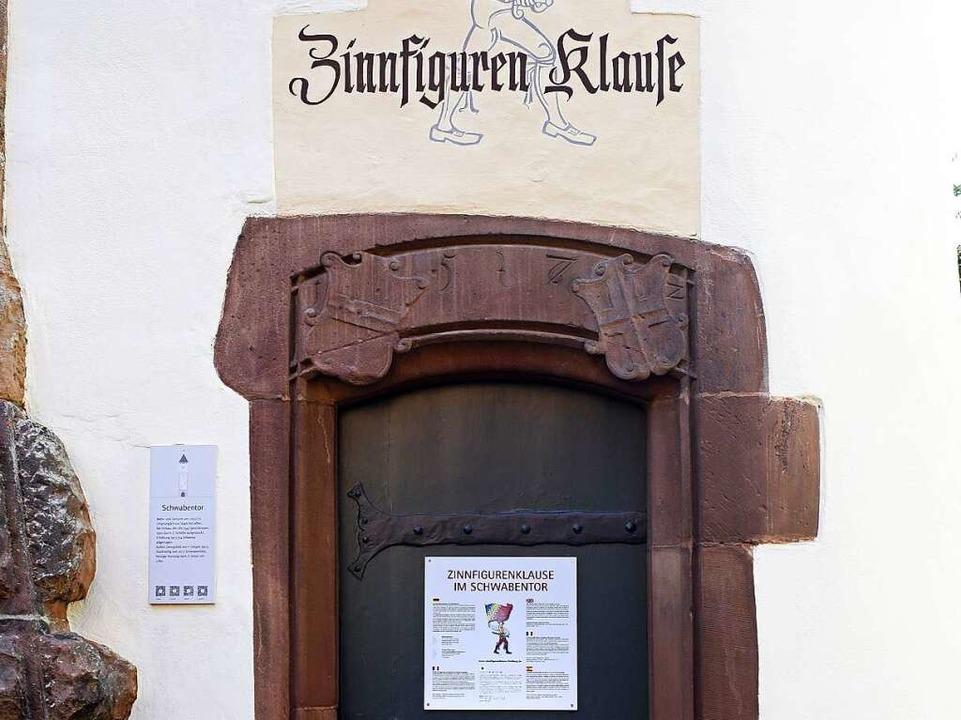 Buntsandstein um den Eingang zur Zinnfigurenklause im Schwabentor  | Foto: Thomas Kunz