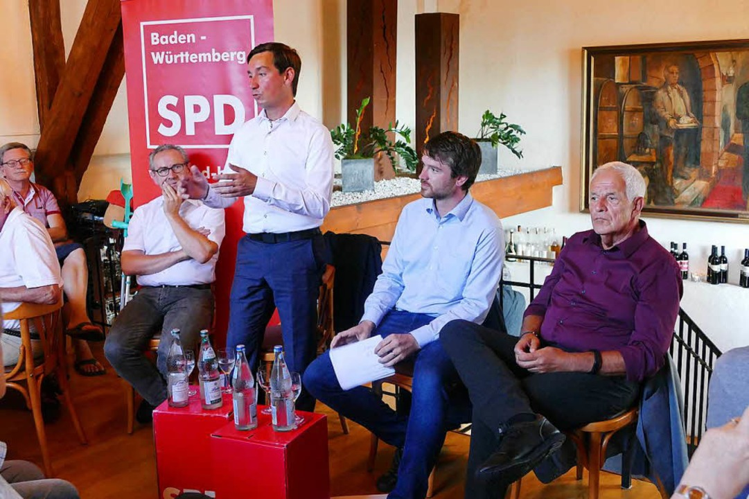 Roland Nußbaumer, Sebastian Hartmann, ...n und Rainer Stickelberger (von links)  | Foto: Kathrin Ganter