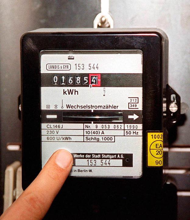 Magneten können   alte Stromzähler  zu...ge von den Gemeindewerken im Gericht.   | Foto: Symbolbild:dpa