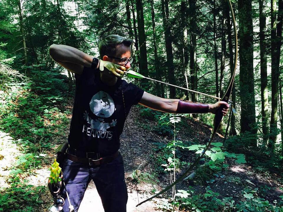 Beim Schießen im Wald: Beatrice Runge   | Foto: privat