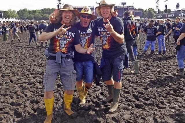 Drei Mundelfinger erleben das Metall-Festival in Wacken