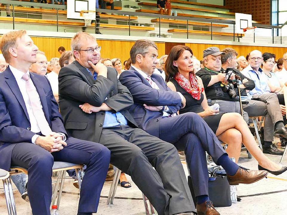 Oberbürgermeister von Waldshut-Tiengen... Rita Schwarzelühr-Sutter (von links).    Foto: Manuel Fritsch
