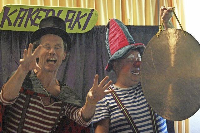 Clowntheater Kakerlaki gastiert heute, Donnerstag, im Logofit in Bonndorf