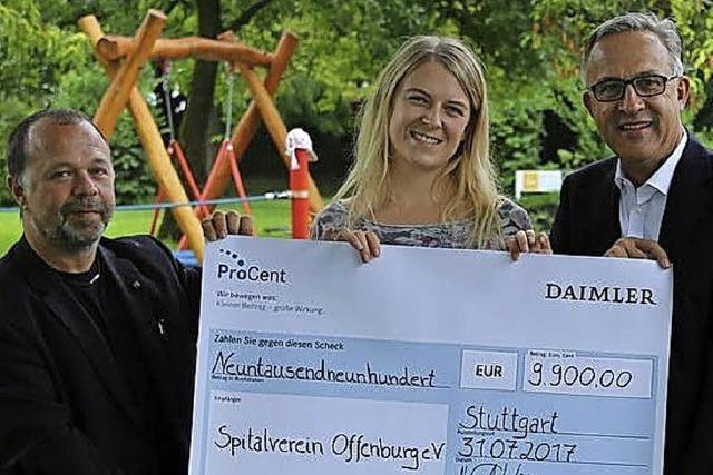 9900 Euro für Spielplatz am Klinikum