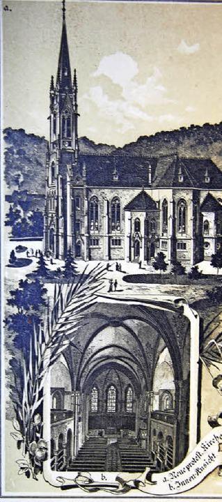 Die Stadtkirche auf einer alten Postkarte.    Foto: privat