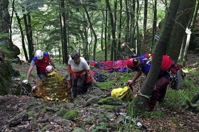 80-Jähriger Wanderer stürzte an steiler Stelle