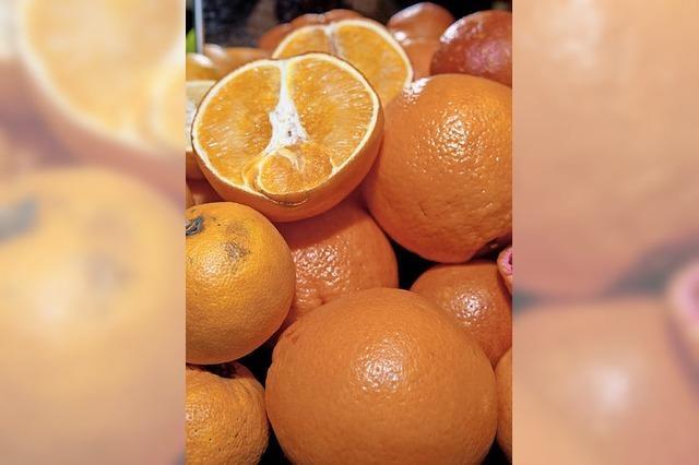 Orangen sind knapp und werden teuer