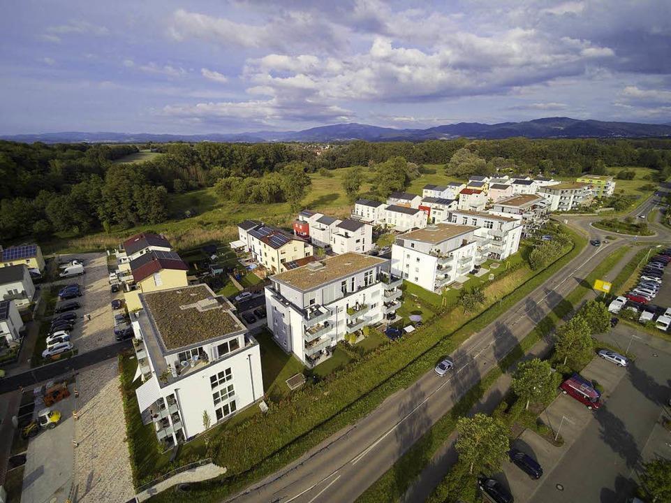 Im Marcher Ortsteil Hugstetten im Baug...genen fünf Jahren Wohnraum entstanden.  | Foto: Michael Saurer