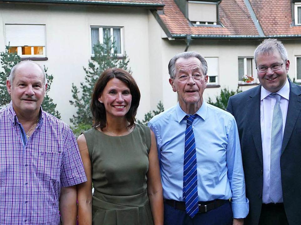 Hartmut Fricke, Rita Schwarzelühr-Sutter, Franz Müntefering und Alexander Guhl  | Foto: Manuel Fritsch