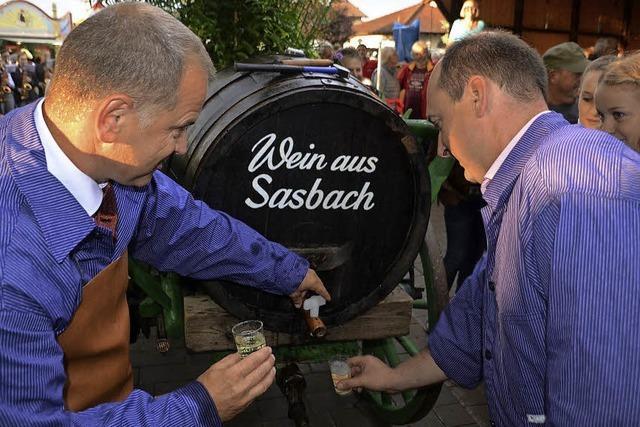 Sasbacher feiern ihren Wein