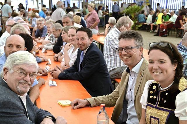Zahlreiche Gäste feierten in Niederrimsingen zusammen die Chilbi