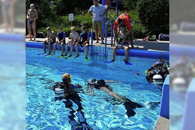 Unter Wasser gefällt das Gefühl fast zu schweben