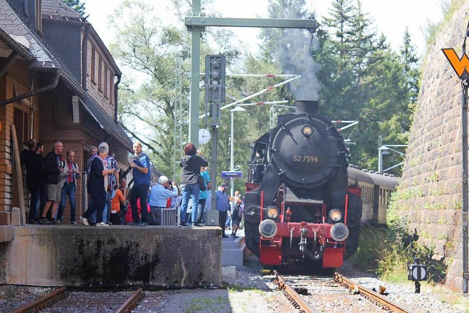 In Seebrugg wurde das historische Bahnhofsfest gefeiert.<?ZP?> (Foto: Heidrun Brichta)