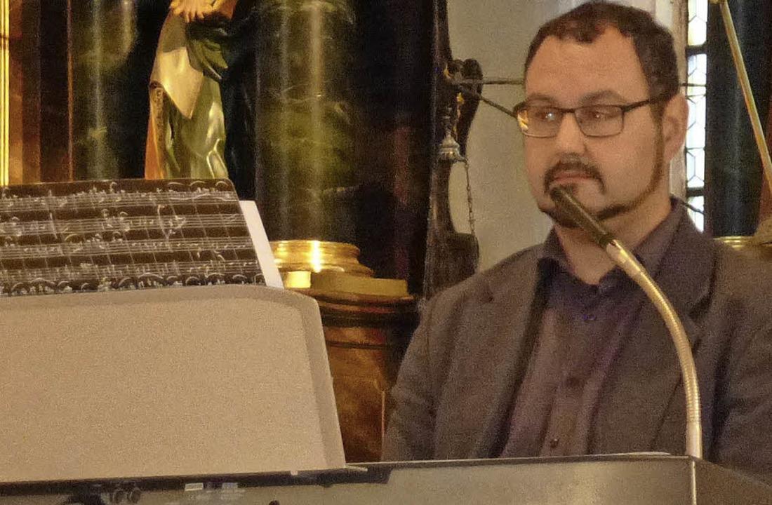 Selbst komponierte Neue Geistliche Lie...berland in der Löffinger Kulturnacht.     Foto: Karla Scherer