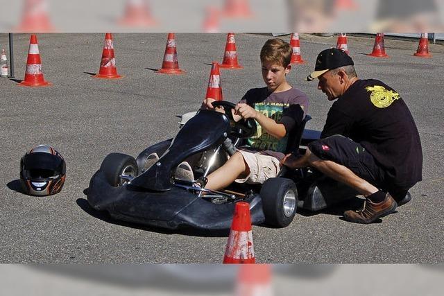 Kart-Schnupper-Training und Fahrradturnier