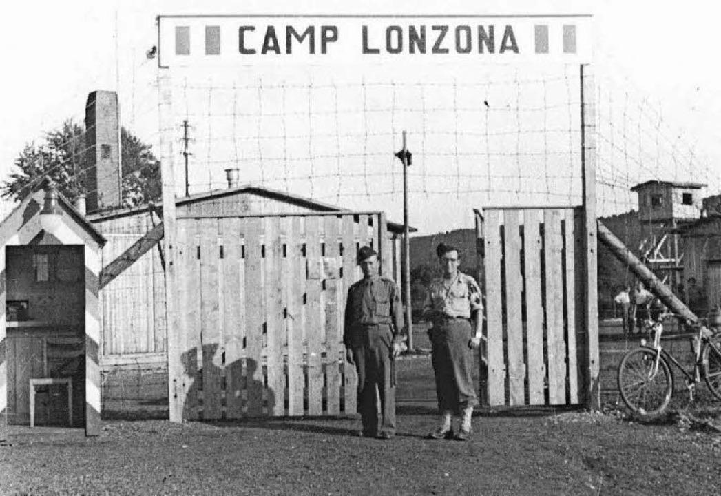 Im Camp Lonzona waren nach dem Zweiten Weltkrieg Flüchtlinge untergebracht.    Foto: Stadtarchiv