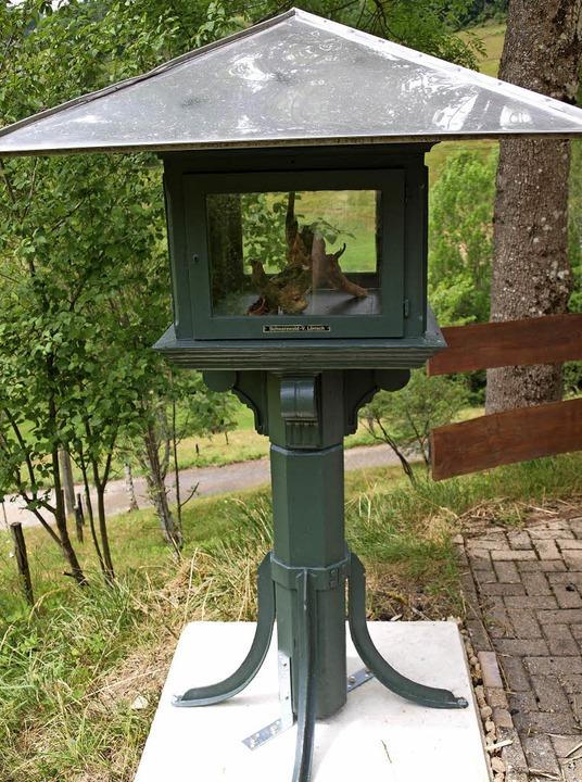 Das Wetterhäuschen aus dem Hebelpark s...ck in Neuenweg des Schwarzwaldvereins.    Foto: Paul Schleer