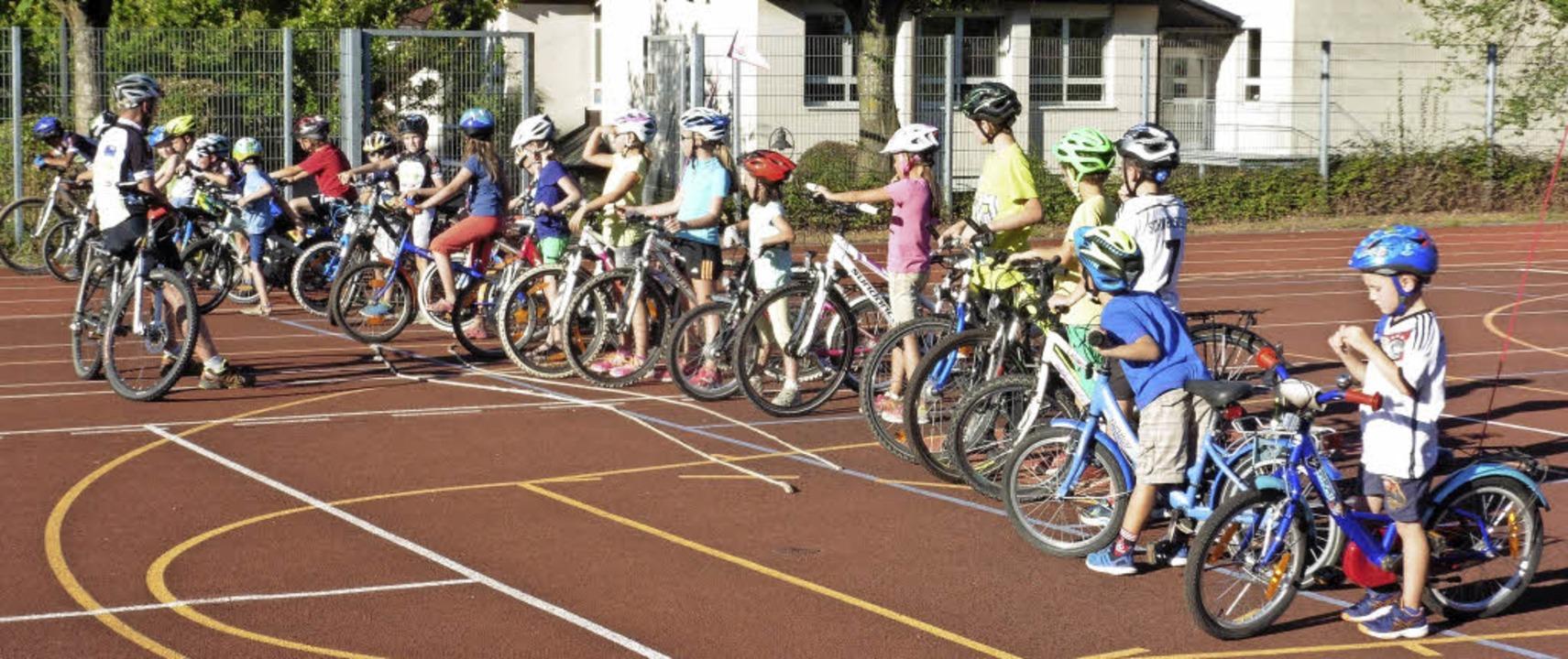 Die Jugendarbeit wird bei der Radsport...und wie man sieht, fängt sie früh an.     Foto: Privat