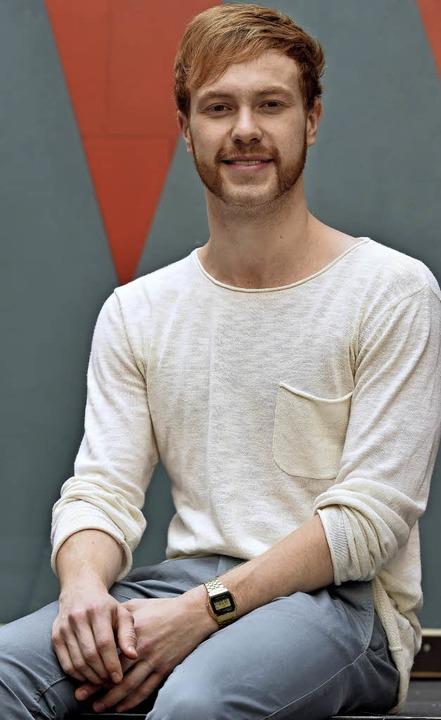 Tobias Ziebold ungeschminkt vor der Aufführung   | Foto: thomas kunz