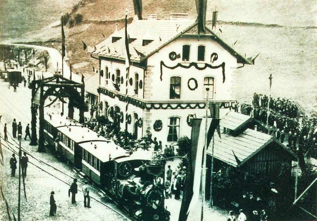 Der Eröffnungszug am 7. Juli 1889 in Todtnau  | Foto: Archiv Benno Dörflinger