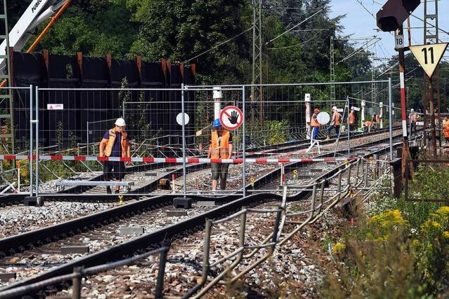 Deutsche Bahn bestätigt: Rheintalstrecke bleibt bis zum 7. Oktober gesperrt