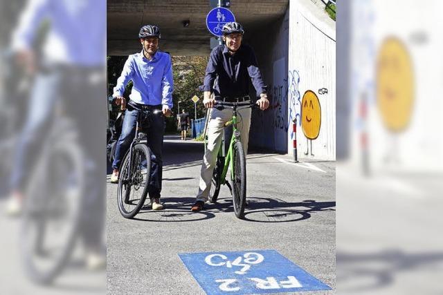 Die Rad-Vorrangroute FR2 führt in drei Jahren durchgehend zum Ziel